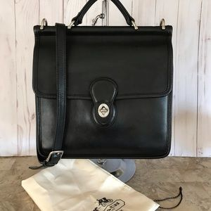 RARE NICKEL COACH WILLIS MESSENGER BAG